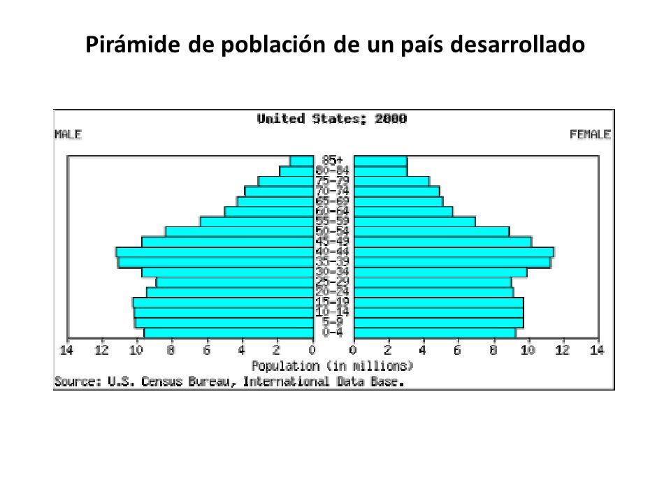 Pirámide de población de un país desarrollado