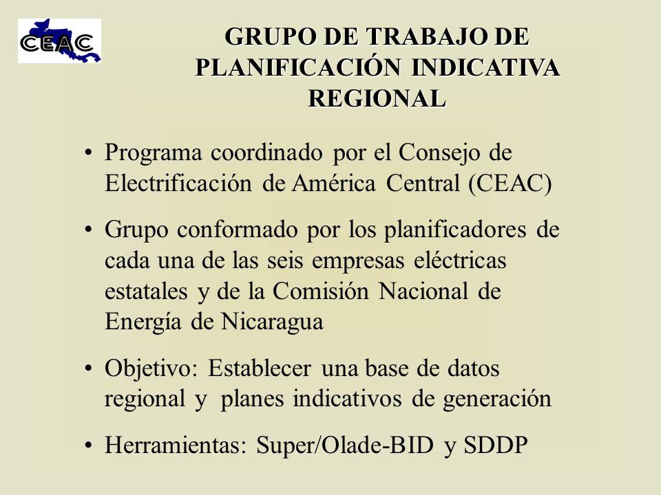 ESCENARIOS ANALIZADOS En todos los escenarios se considera interconexión con México de 200 MW en el 2008, SIEPAC 1 en el 2009 y SIEPAC 2 en el 2012.