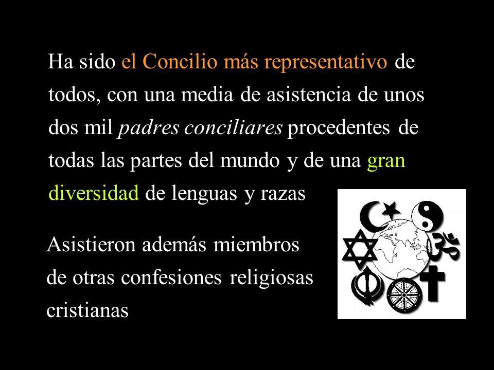 Ha sido el Concilio más representativo de todos, con una media de asistencia de unos dos mil padres conciliares procedentes de todas las partes del mu