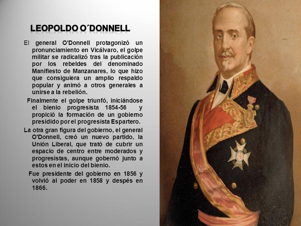 El general O'Donnell protagonizó un pronunciamiento en Vicálvaro, el golpe militar se radicalizó tras la publicación por los rebeldes del denominado M