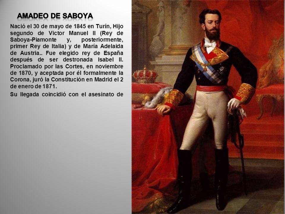 Nació el 30 de mayo de 1845 en Turín, Hijo segundo de Victor Manuel II (Rey de Saboya-Piamonte y, posteriormente, primer Rey de Italia) y de María Ade