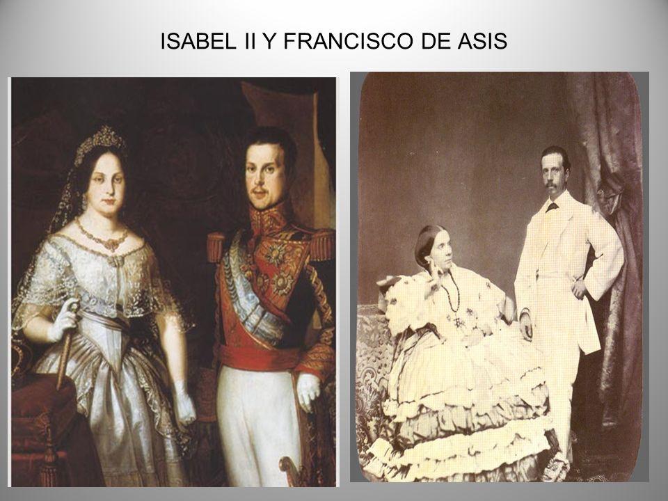 ISABEL II Y FRANCISCO DE ASIS