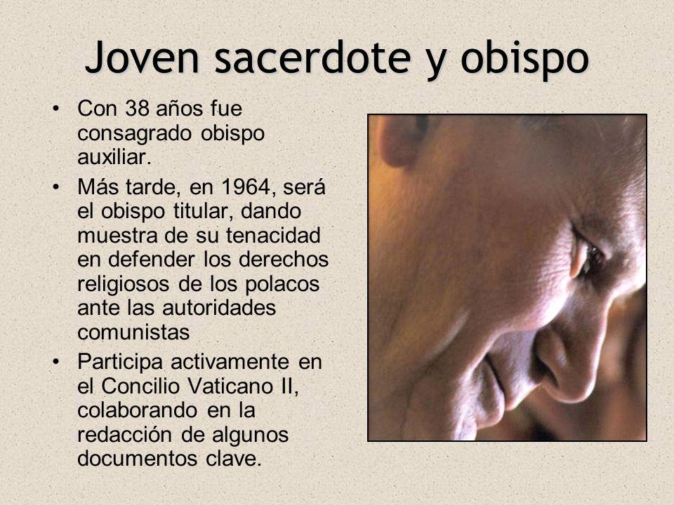 Joven sacerdote y obispo Con 38 años fue consagrado obispo auxiliar. Más tarde, en 1964, será el obispo titular, dando muestra de su tenacidad en defe