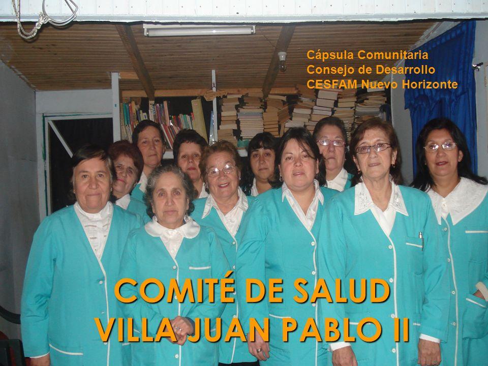 COMITÉ DE SALUD VILLA JUAN PABLO II Cápsula Comunitaria Consejo de Desarrollo CESFAM Nuevo Horizonte