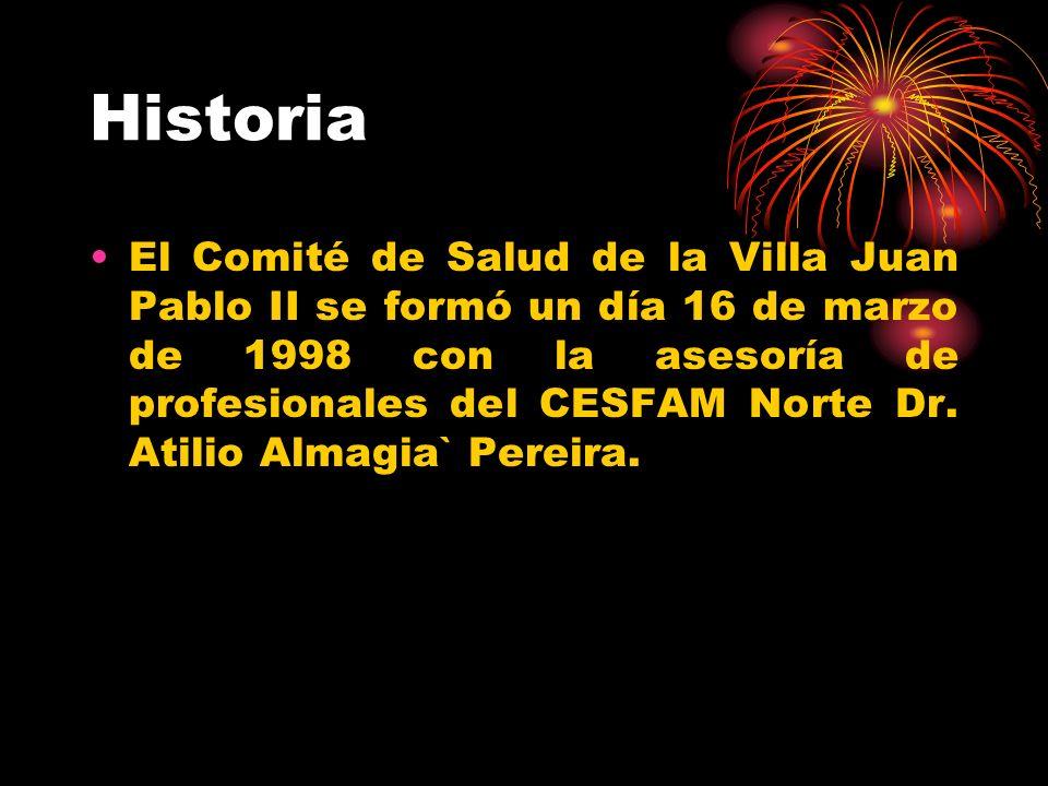 Historia El Comité de Salud de la Villa Juan Pablo II se formó un día 16 de marzo de 1998 con la asesoría de profesionales del CESFAM Norte Dr. Atilio