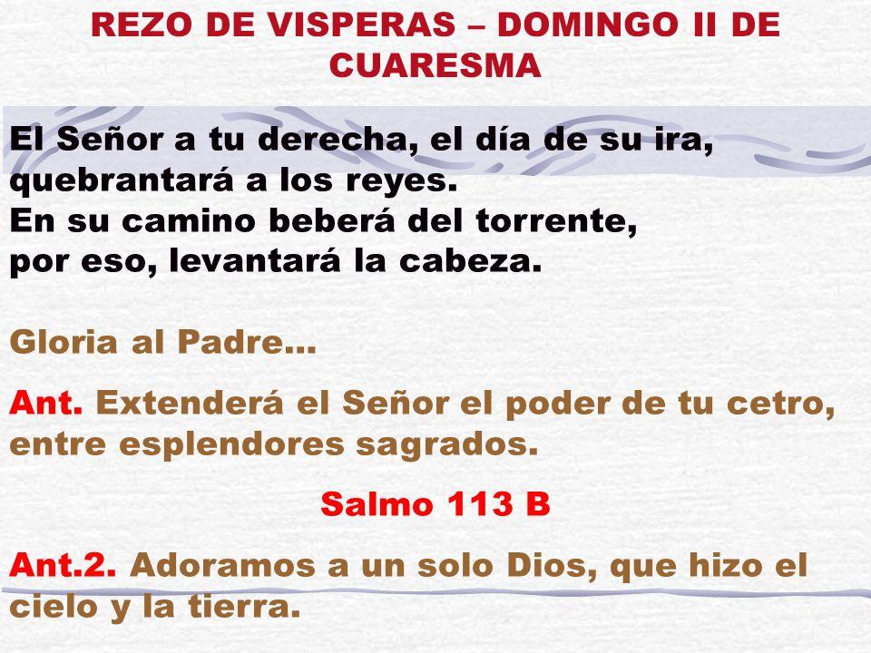 No a nosotros, Señor, no a nosotros, sino a tu nombre da la gloria, por tu bondad, por tu lealtad.