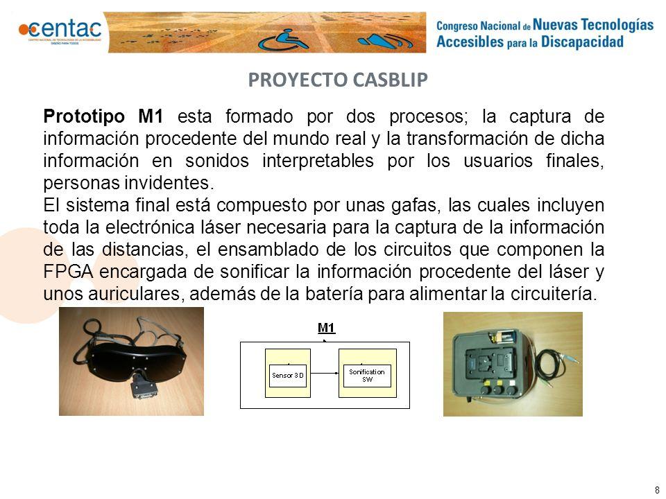 8 Prototipo M1 esta formado por dos procesos; la captura de información procedente del mundo real y la transformación de dicha información en sonidos
