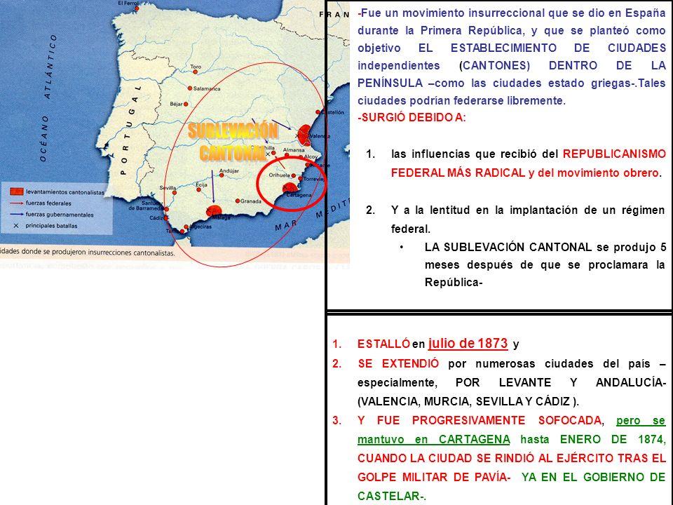 -Fue un movimiento insurreccional que se dio en España durante la Primera República, y que se planteó como objetivo EL ESTABLECIMIENTO DE CIUDADES ind