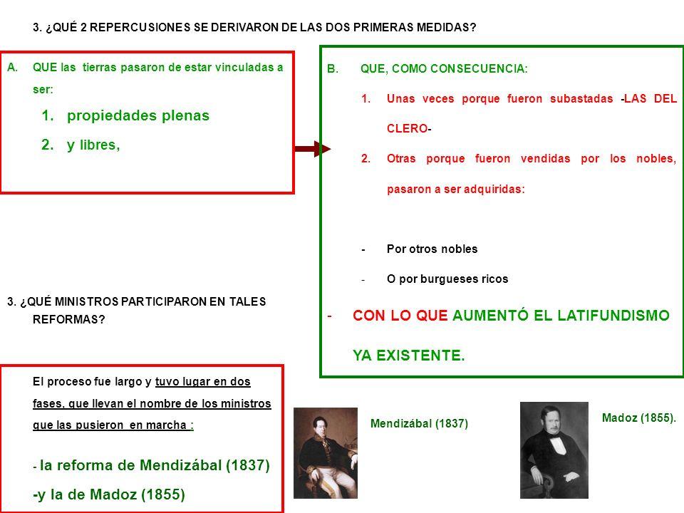 Madoz (1855). B. QUE, COMO CONSECUENCIA: 1.Unas veces porque fueron subastadas -LAS DEL CLERO- 2.Otras porque fueron vendidas por los nobles, pasaron