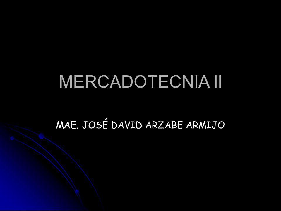 MERCADOTECNIA II MAE. JOSÉ DAVID ARZABE ARMIJO