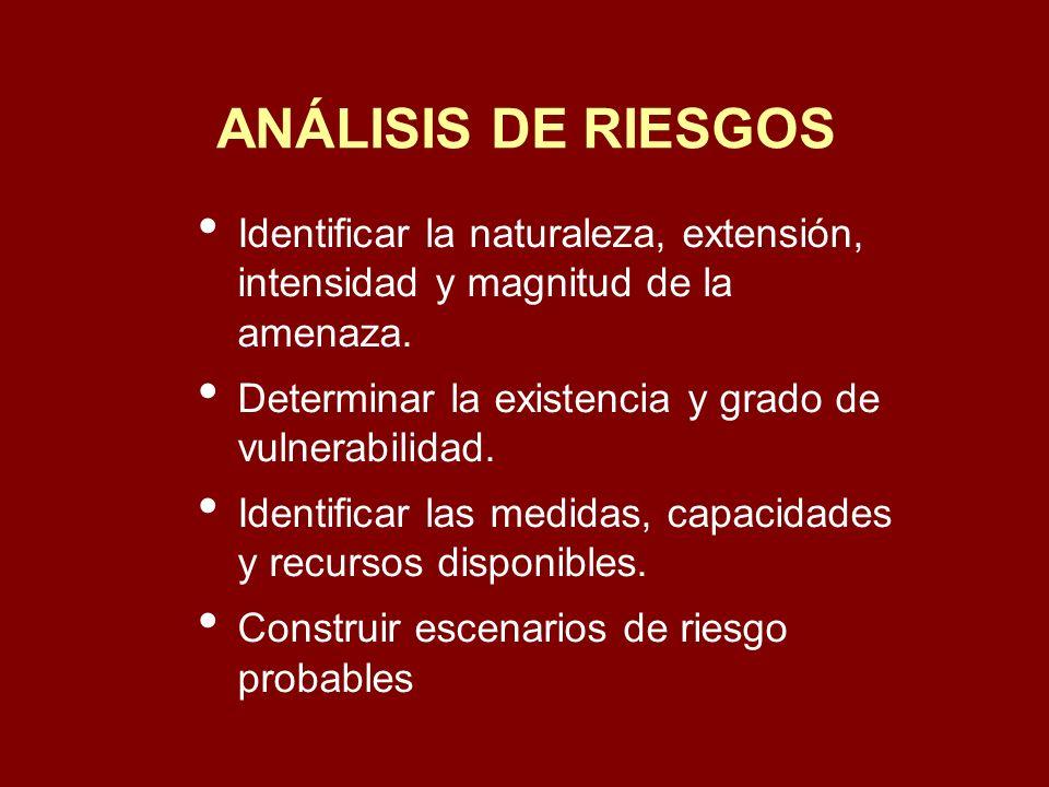 ANALISIS DE RIESGOS LOCALES