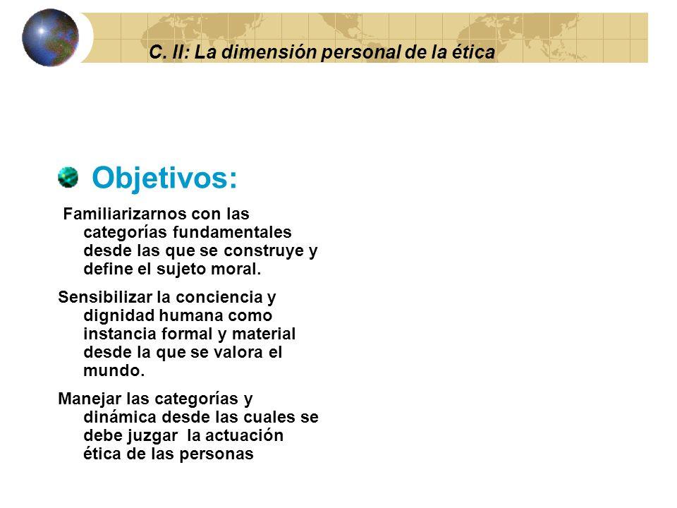 C. II: La dimensión personal de la ética 2.5 EL EJERCICIO DE LA LIBERTAD.