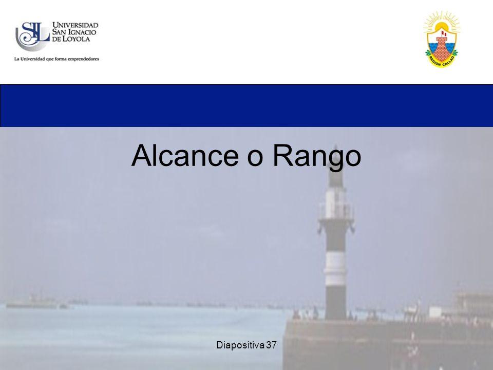 Diapositiva 37 Alcance o Rango