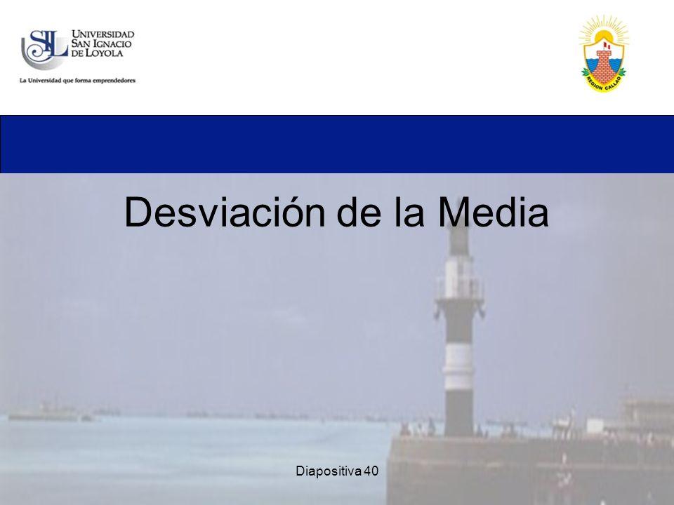 Diapositiva 40 Desviación de la Media