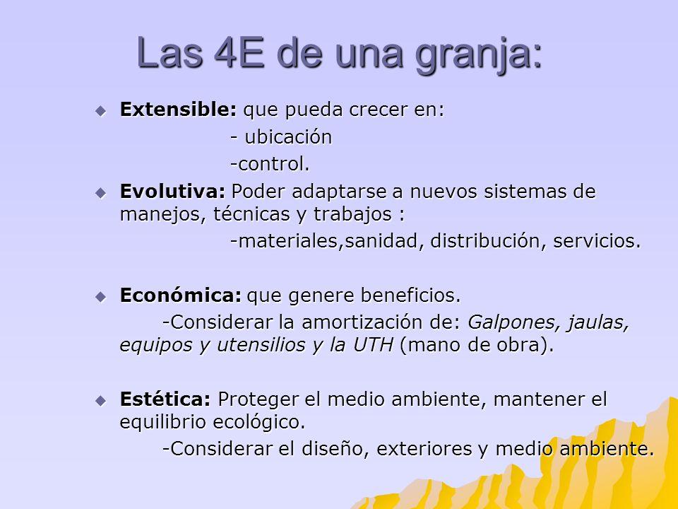 Las 4E de una granja: Extensible: que pueda crecer en: Extensible: que pueda crecer en: - ubicación -control. Evolutiva: Poder adaptarse a nuevos sist