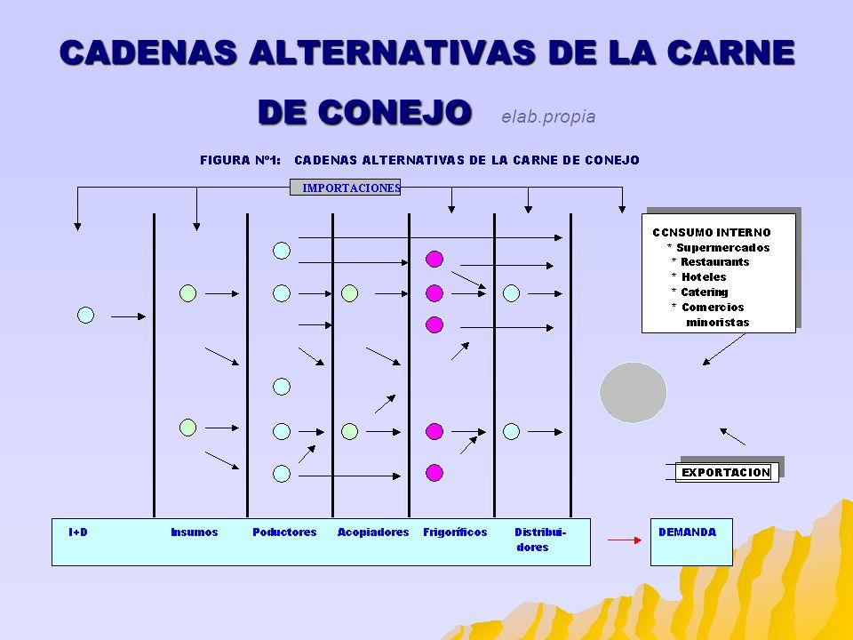 CADENAS ALTERNATIVAS DE LA CARNE DE CONEJO CADENAS ALTERNATIVAS DE LA CARNE DE CONEJO elab.propia