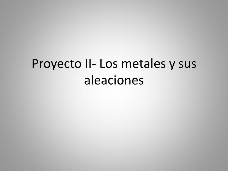 Proyecto II- Los metales y sus aleaciones