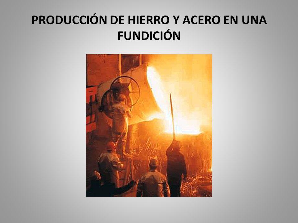 PRODUCCIÓN DE HIERRO Y ACERO EN UNA FUNDICIÓN