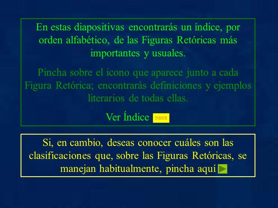 FIGURAS RETÓRICAS ALEGORÍA EPANADIPLOSIS PARADOJA ALITERACIÓN EPÍTETO PARALELISMO ANADIPLOSIS ETOPEYA PARONOMASIA ANÁFORA HIPÉRBATON PERÍFRASIS ANTÍTESIS HIPÉRBOLE PLEONASMO ASÍNDETON INTERROGACIÓN POLISÍNDETON CALAMBUR IRONÍA PROSOPOPEYA CONCATENACIÓN METÁFORA RETRUÉCANO DERIVACIÓN METONIMIA SÍMIL ECO ONOMATOPEYA SINÉCDOQUE ELIPSIS OXÍMORON SINONIMIA INICIO