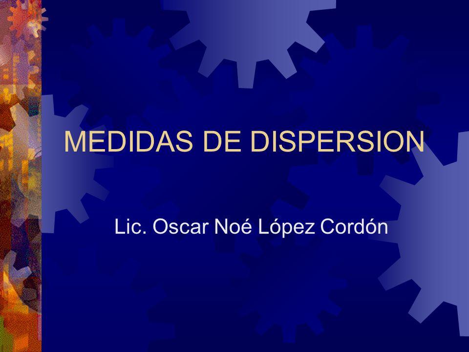 MEDIDAS DE DISPERSION Lic. Oscar Noé López Cordón