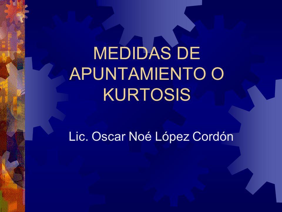 MEDIDAS DE APUNTAMIENTO O KURTOSIS Lic. Oscar Noé López Cordón