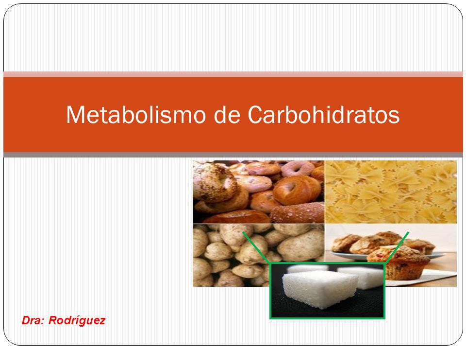 Metabolismo de Carbohidratos Dra: Rodríguez