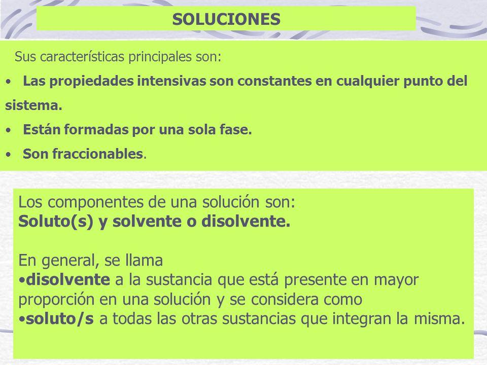 Unidades Químicas Molaridad (M): Es el número de moles de soluto contenido en un litro de solución.