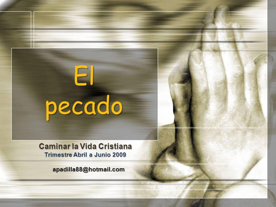 El pecado Caminar la Vida Cristiana Trimestre Abril a Junio 2009 apadilla88@hotmail.com