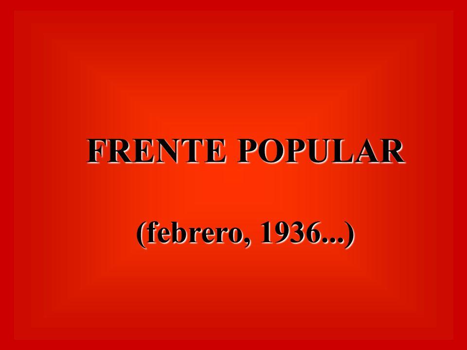 FRENTE POPULAR (febrero, 1936...)