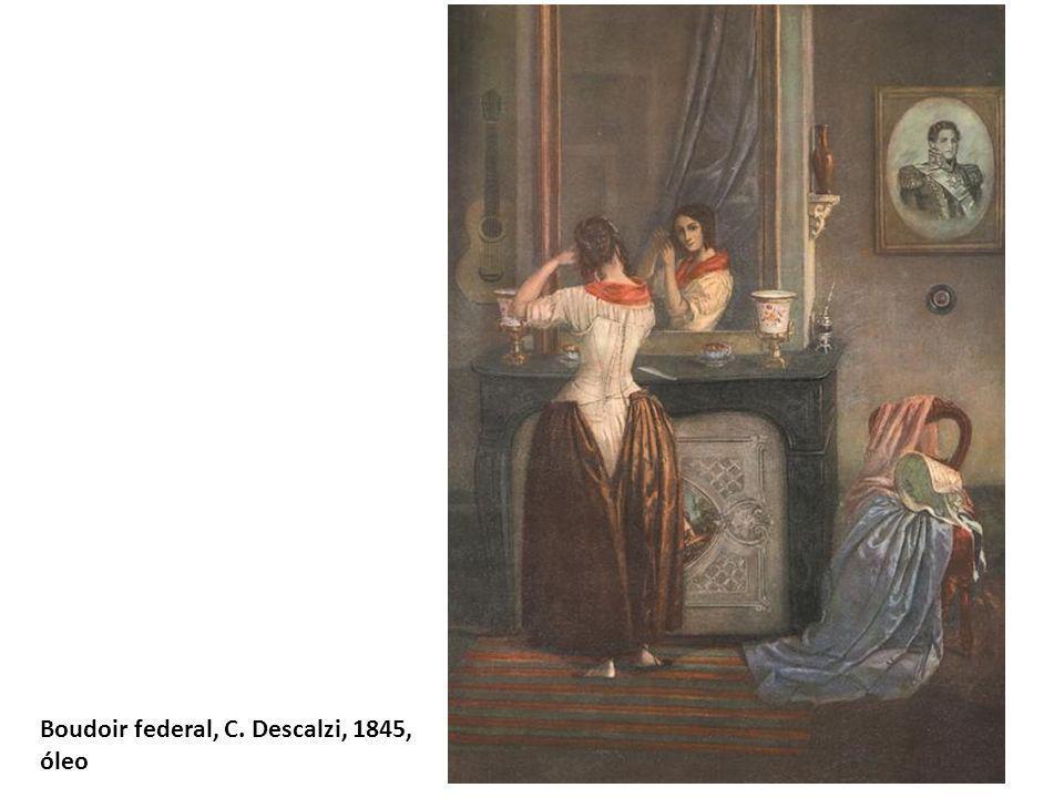 Boudoir federal, C. Descalzi, 1845, óleo