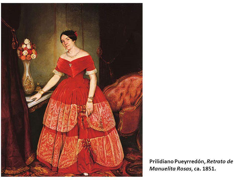 Prilidiano Pueyrredón, Retrato de Manuelita Rosas, ca. 1851.