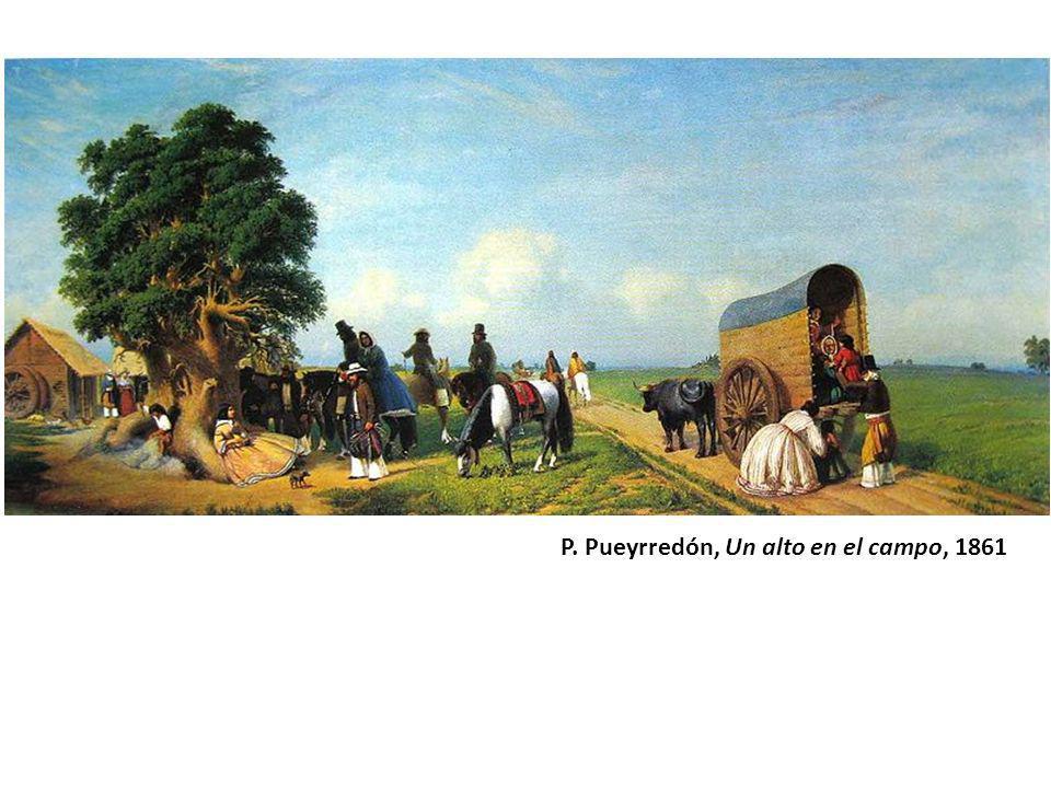 P. Pueyrredón, Un alto en el campo, 1861