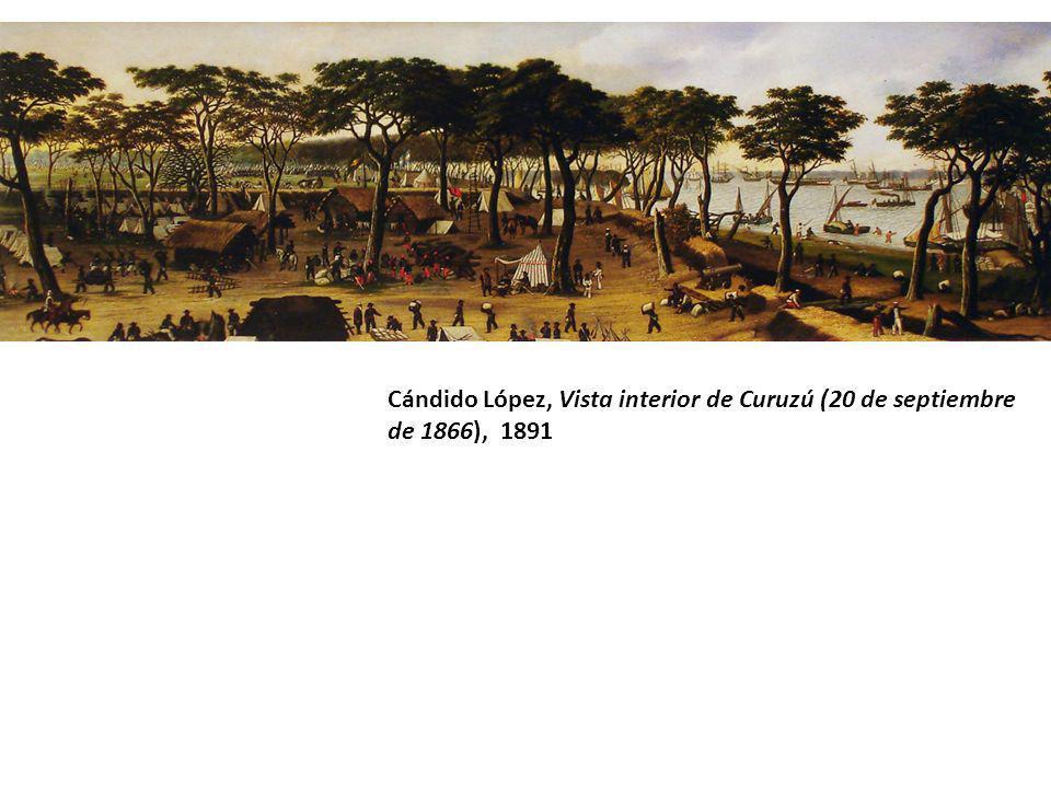 Cándido López, Vista interior de Curuzú (20 de septiembre de 1866), 1891