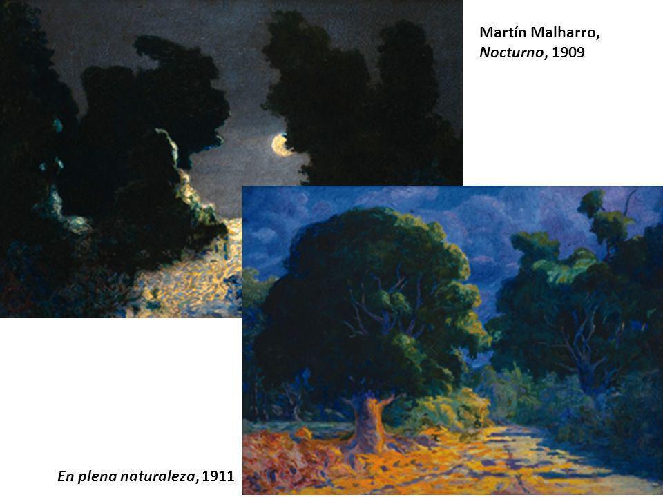 Martín Malharro, Nocturno, 1909 En plena naturaleza, 1911