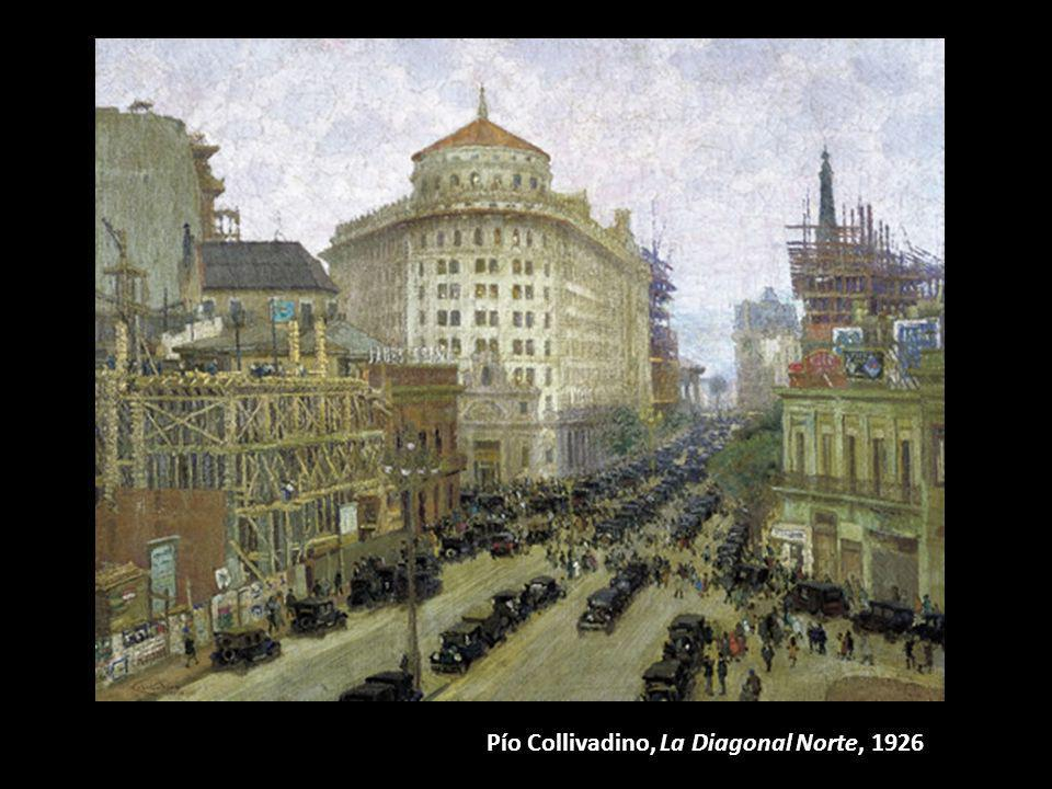 Pío Collivadino, La Diagonal Norte, 1926