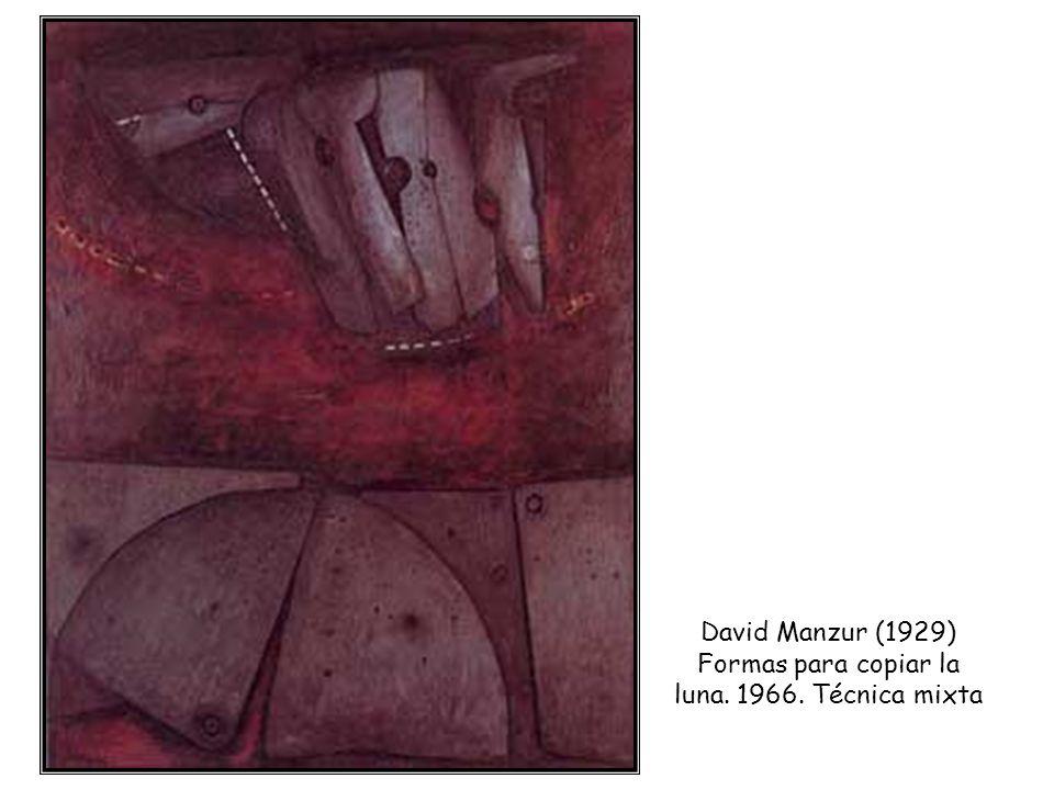 David Manzur (1929) Formas para copiar la luna. 1966. Técnica mixta