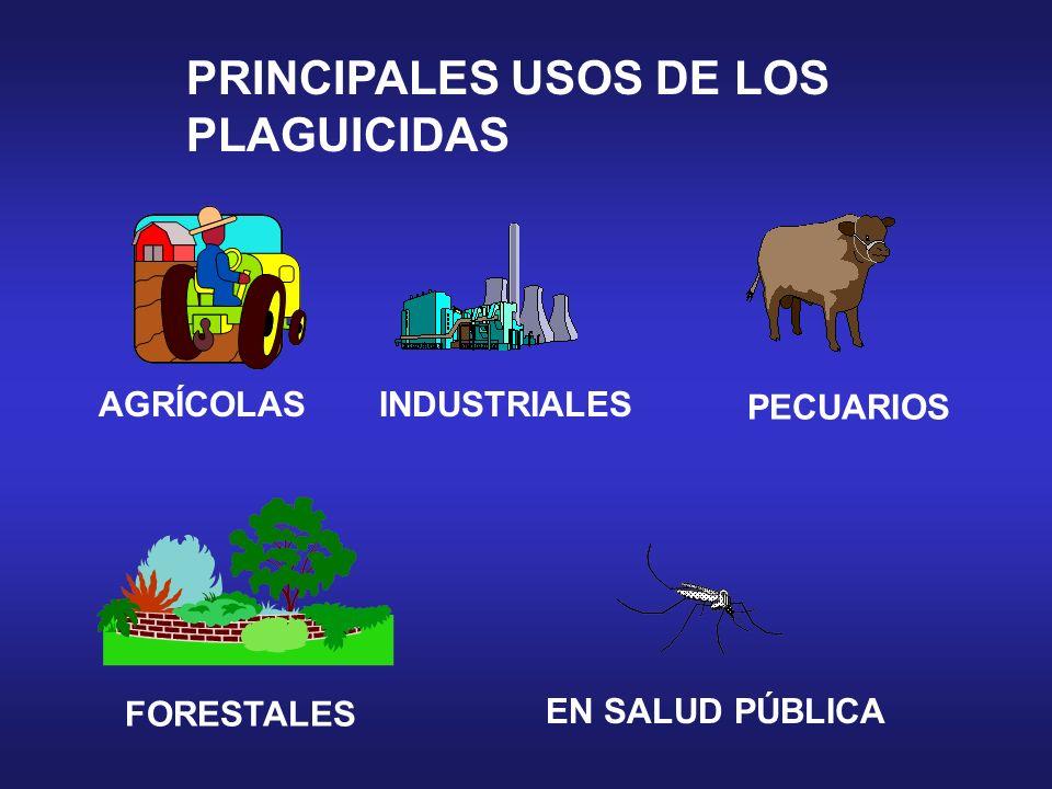 PRINCIPALES USOS DE LOS PLAGUICIDAS AGRÍCOLAS PECUARIOS FORESTALES INDUSTRIALES EN SALUD PÚBLICA