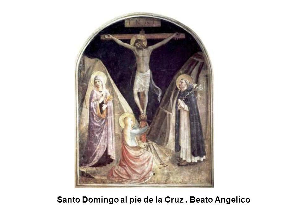 Santo Domingo al pie de la Cruz (detalle). Beato Angelico