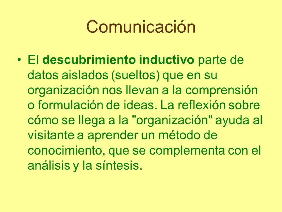Comunicación Establecer el vínculo entre los objetivos de la exposición y los de la visita es el principal objetivo educativo del guía, porque de este vínculo depende todo lo que podamos hacer después.