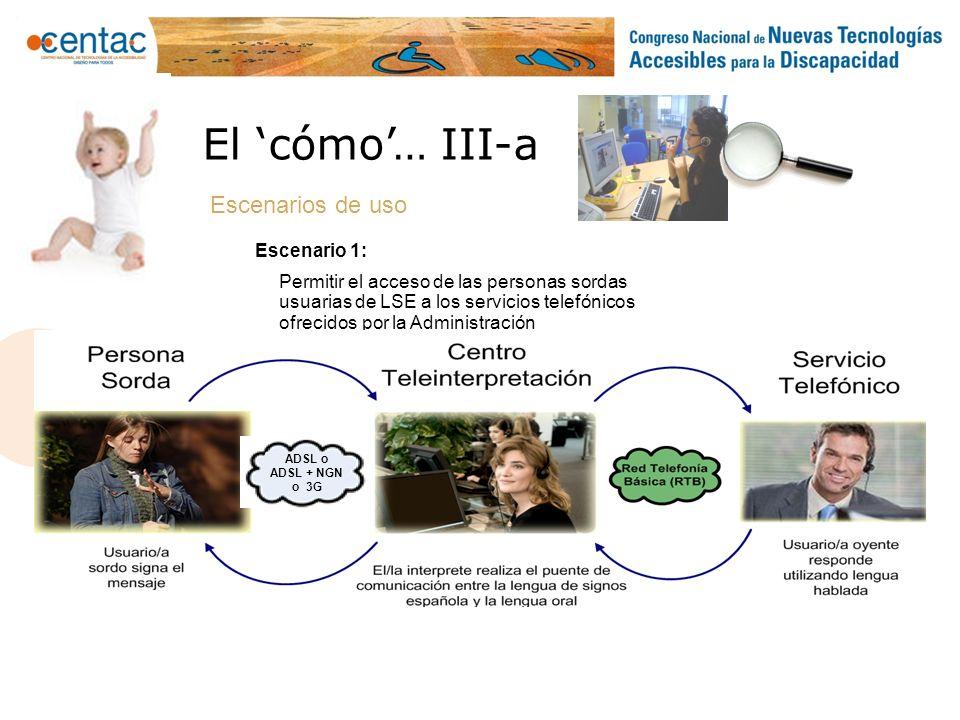 Traducción Presencial El punto de atención de una AAPP o empresa dispone de comunicaciones video + voz.