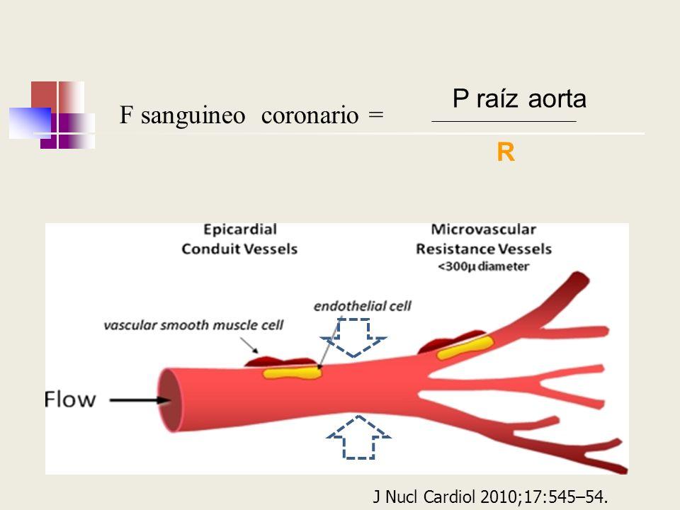 F sanguineo coronario = P raíz aorta R J Nucl Cardiol 2010;17:545–54.