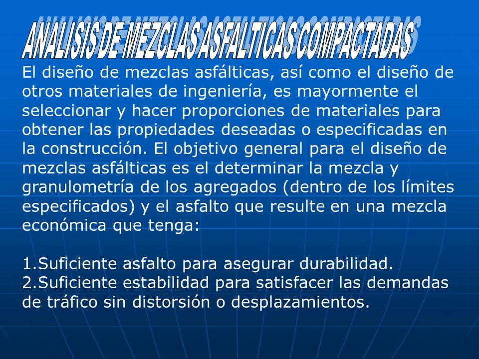 El diseño de mezclas asfálticas, así como el diseño de otros materiales de ingeniería, es mayormente el seleccionar y hacer proporciones de materiales