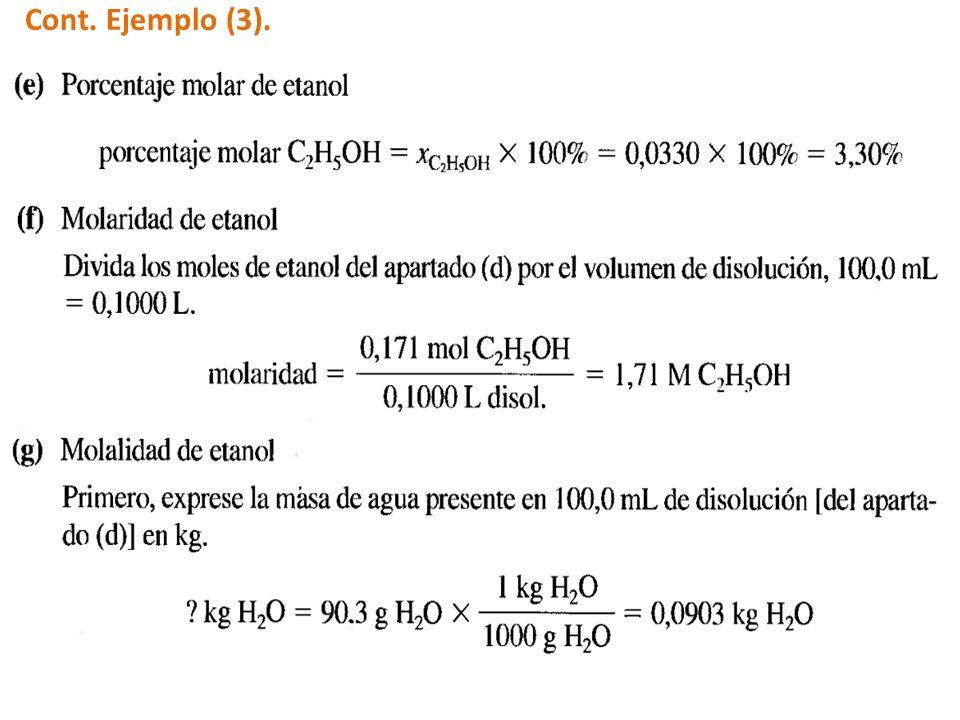 Cont. Ejemplo (3).