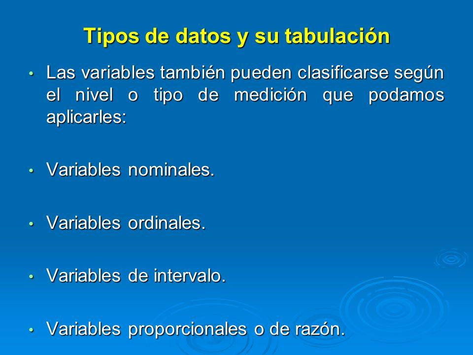 Variable nominal: Tiene categorías a las que se les asigna nombres que no tienen ningún orden entre ellos.