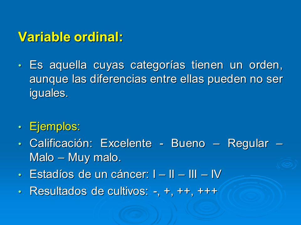 Variable de intervalo: Tiene distancias iguales entre sus valores y una característica fundamental: el cero es arbitrario.