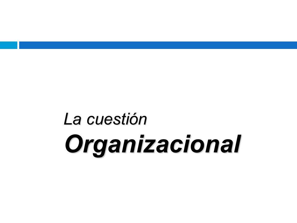 La cuestión Organizacional