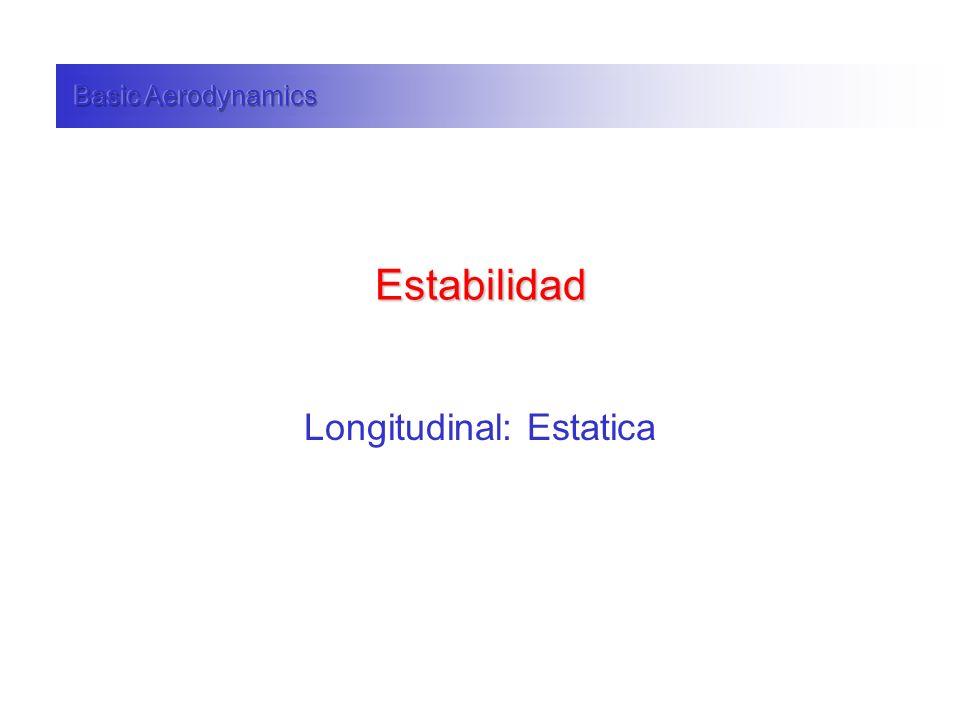Estabilidad Longitudinal: Estatica