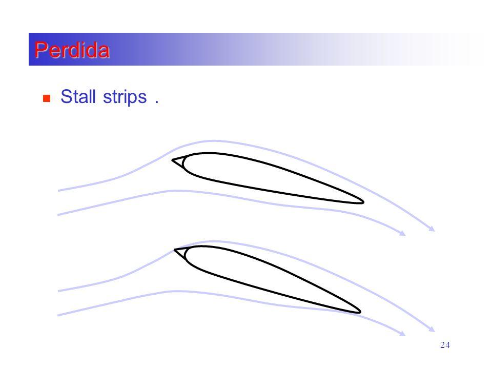 24 Perdida n Stall strips.