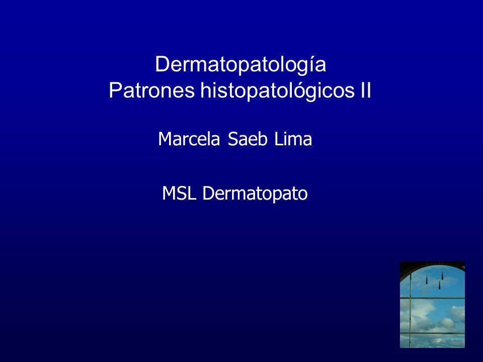 Dermatopatología Patrones histopatológicos II Marcela Saeb Lima MSL Dermatopato