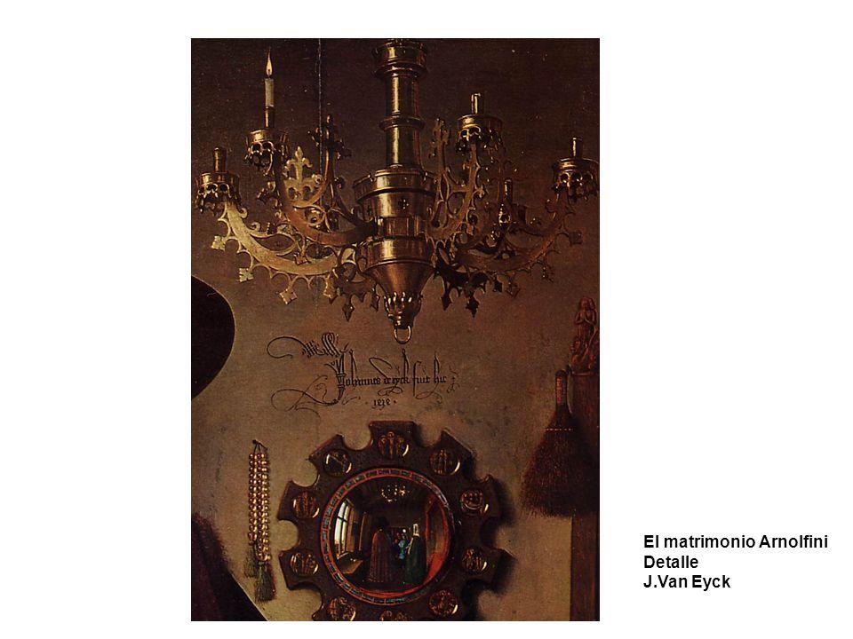El matrimonio Arnolfini Detalle J.Van Eyck